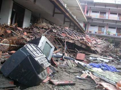 Gempa Sumbar 7,6 SR (diambil dari detiknews.com)